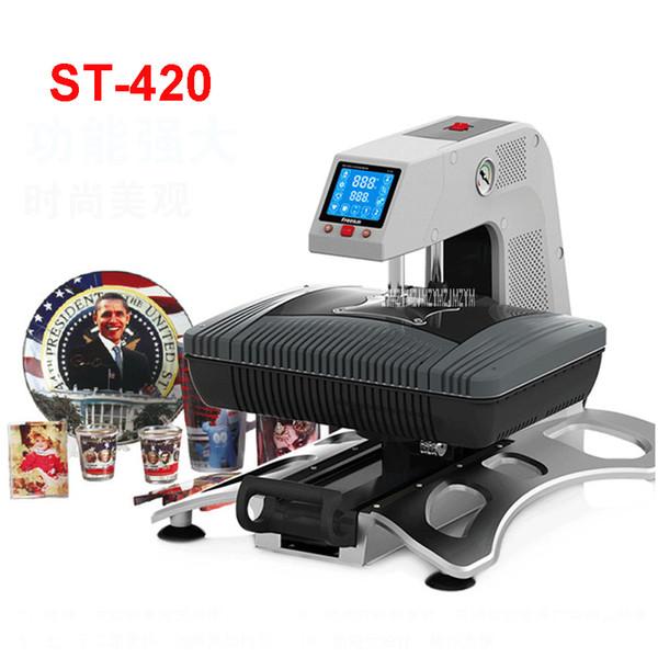 110 V / 220 V ST-420 3D Sublimazione Stampante a trasferimento termico 3D Vacuum Printer Machine per Casi Tazze T Shirt Piatti 260 * 380mm area