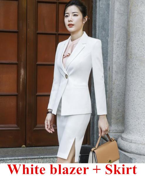 White coat and skirt