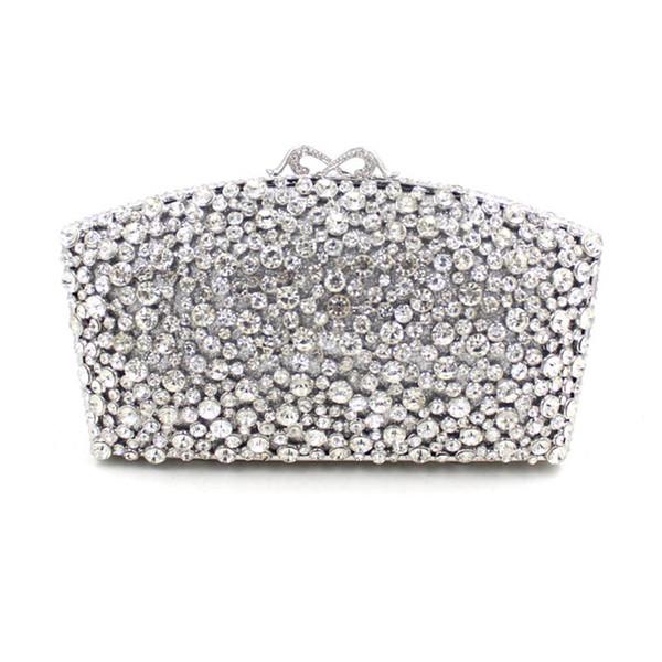 Fashion Evening Bags Rhinestones Clutch Handbags Crystal