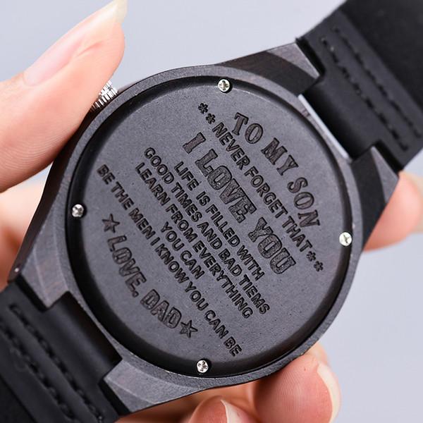 Großhandel Maßgeschneiderte Holz Uhr Geschenk Für Sohn Mama Papa Freund Graviert Ihr Eigenes Logo Oem Von Duoyun 3653 Auf Dedhgatecom Dhgate