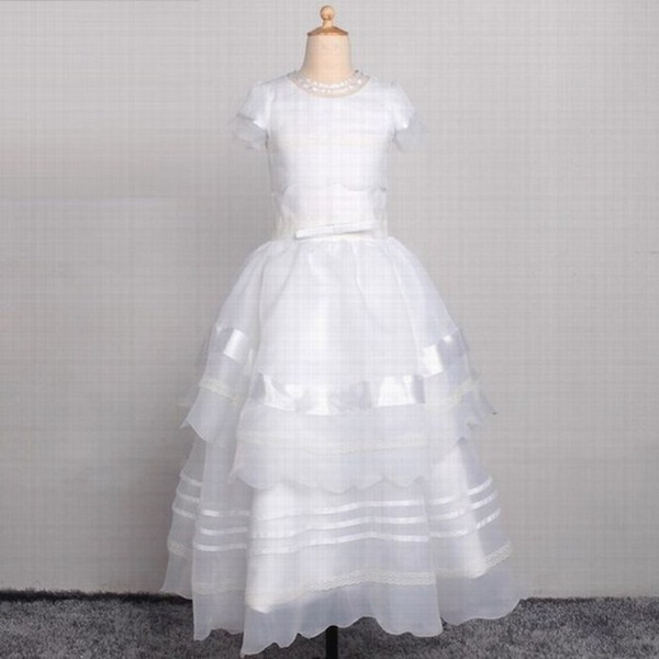 New Beautiful Princess Flower Girl Dress Pageant Prom Wedding Party Birthday Occasion Children Gown Kids Dresses YYST58