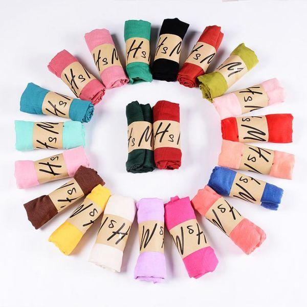 Neue Baumwolle Leinen Schal Volltonfarbe Monochrom Bonbonfarbenen Seide Femme Schal Frauen Geschenk Schal Schöne Schals