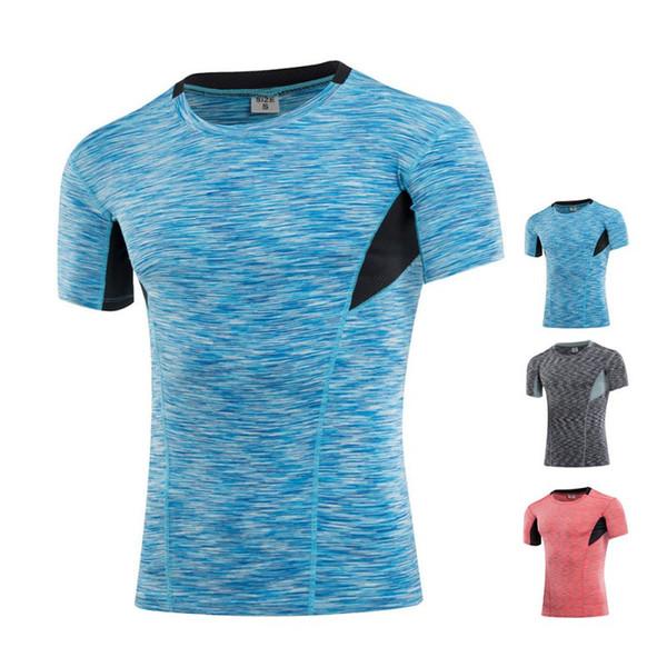 Men Quick Dry Slim Fitness Running Gym Sports T Shirt Fitness Tops & Tees S M L XL XXL