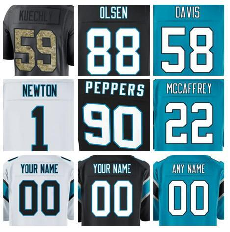 online store 072bb f5d29 2019 Custom Carolina Julius Peppers Panthers Jersey Devin Funchess Greg  Olsen Salute To Service Vapor Authentic American Football Jerseys 4xl Xxx  From ...