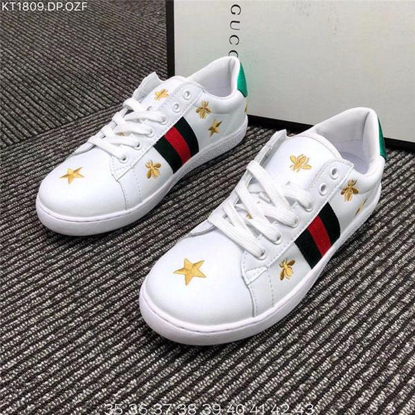 937e685ad 2018 Hot BEES Primeknit men women⠀Gucci Running Shoes OG Classic Triple  Black white Beige