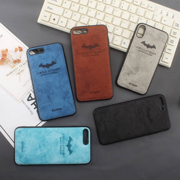 For iPhone X 8 7 Plus /Huawei Mate 10 10pro /P10 20 plus P20 lite High quality Vintage Retro Car line Batman pressure change skin PU Lea