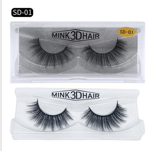 HOT New 3D Mink Eyelashes Eyelashes Messy false Eye lash Extension 12styles Sexy Eyelash Full Strip Eye Lashes by chemical fiber Thick