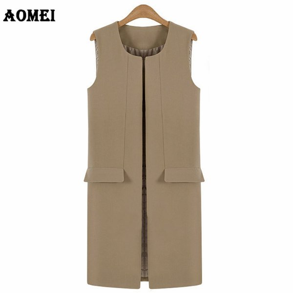 Women Vest EleOffice Lady Pocket Coat Sleeveless Vests with Lining Solid Color Jacket Outwear Wear to Work V Neck 2018 New