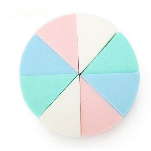 8Pcs/Lot Triangle Shaped Candy Color Soft Magic Face Cleaning Pad Cosmetic Puff Cleansing Sponge Wash Face Makeup Tools