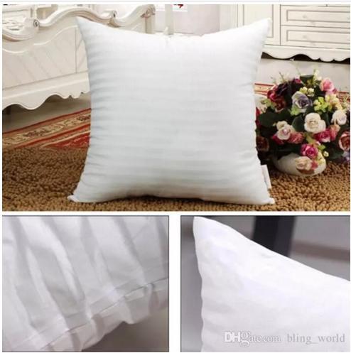 Pamuk Yastıklı Yastık Çekirdek için Mermaid Yastıklar PP Pamuk Doldurulmuş Yastık Çekirdek Yastık Iç Doldurma Polyester Çizgili Kapakları 45 * 45 cm YW234-2