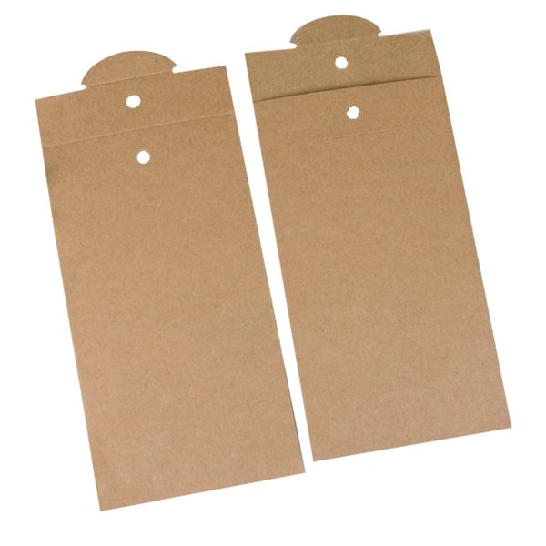 Printing Logo Paper Packaging for Tempered Glass Film for iPhone 7 7 plus Retail High Quality Blank Kraft Paper Package