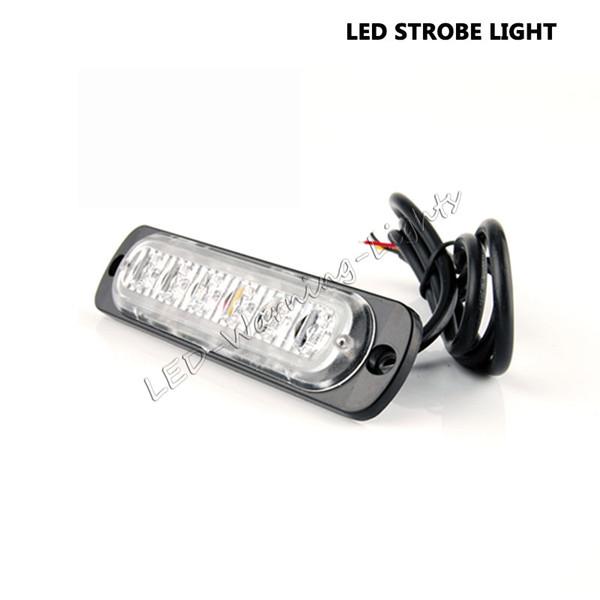ücretsiz kargo 4adet 6 kamyonet offroad motosiklet kehribar beyaz emniyet ikaz lambası için flaş ışığı araba acil fener ışığı bar açtı