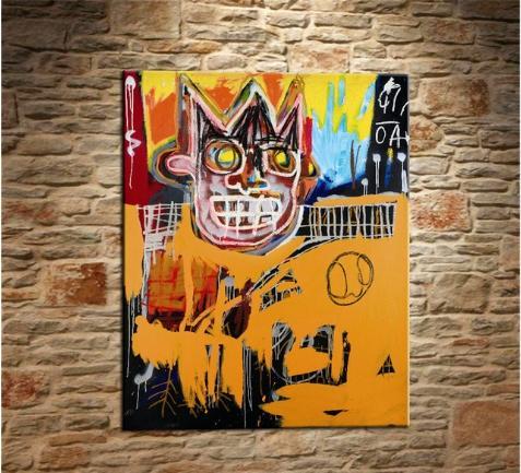 Jean Michel Basquiat Handpainted & HD Print Graffiti Pop Wall Art Oil Painting On Canvas Multi Sizes Frame Options g54