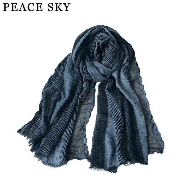 Super big size Japanese Style Winter Scarf Cotton And Linen Bubble long women's scarves shawl hot men scarf