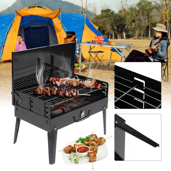 Portable BBQ Barbecue Grills Burner Oven Outdoor Garden Charcoal Barbeque Patio Party Cooking Foldable Picnic for 3-5 Person