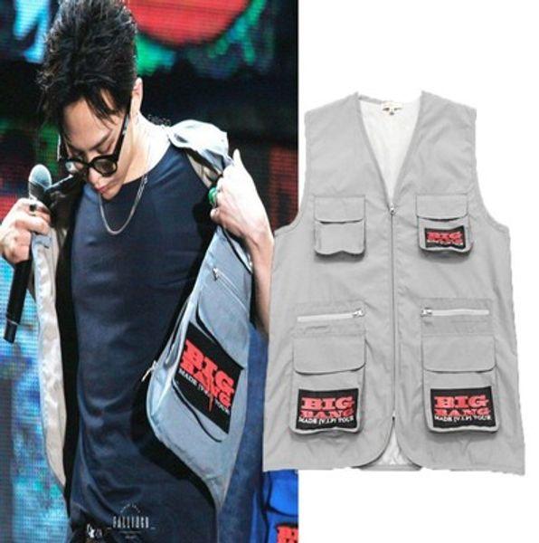 SIZE S XXL RAF SIMONS Big Bang G-Dragon Hip Hop Vest Street Brand Men Fashion New Style 2018