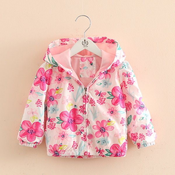 BibiCola Baby girls jackets children spring coat For girl casual hooded cartoon outerwear hand painted 2017 kids summer clothing