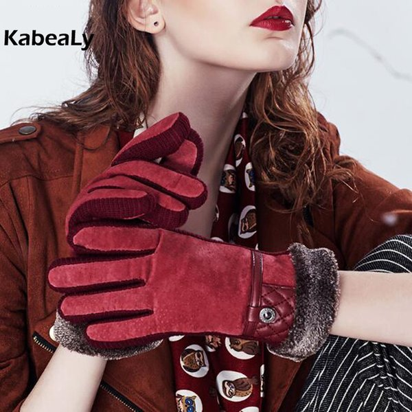 Fashion Lover Gloves Winter antivento impermeabile Warm Donna Uomo Unisex Glvoes Decoration Glvoes Adult Leather