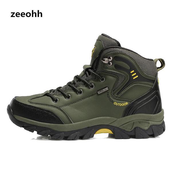 Compre Zeeohh Senderismo Zapatos Camping Botas De Montañismo Hombres Impermeables Pesca Deportiva Cómodo Zapatillas Trekking Antidesgaste A $45.67 Del
