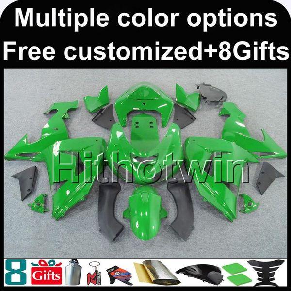 23colors + 8Gifts greenmotorcycle Fairing para Kawasaki ZX10R 2006 2007 ZX 10 R 06 07 ZX-10R ABS Plastic Bodywork Set