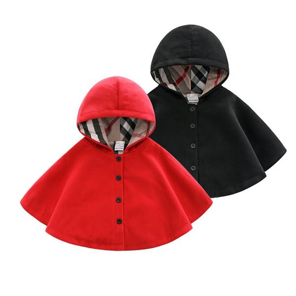 Vieeoease Boys Girls Poncho Christmas Kids Clothing 2018 Autumn Winter Fashion Stripe Coat for Boys Girls EE-1075