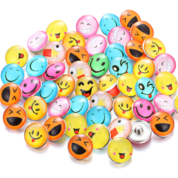 Wholesale Snap Button Jewelry Ginger 18mm DIY Glass Snap Buttons Popper Charm for Bracelet Noosa Jewelry Making Supplier