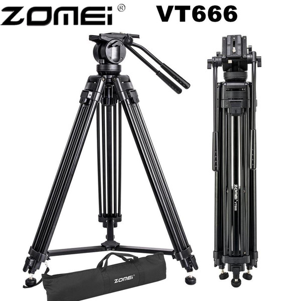 wholesale VT666 Professional Camera Video Tripod with 360-Degree Panoramic Fluid Head for DSLR Camcorder Video, DV, Photography
