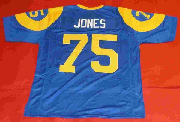 new concept 4d3cd fd11b 2019 Cheap Retro 75 DAVID DEACON JONES CUSTOM Bule Mens MITCHELL & NESS  Jersey FEARSOME FOURSOME Stitching High End Size S 5XL Football Jerseys  From ...