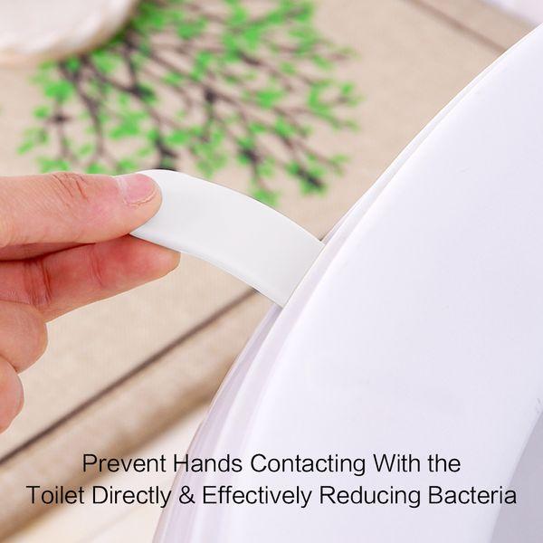Tampa do assento do toalete Tampa do elevador Levante o cabo da maneira limpa Evite tocar limpo higiênico