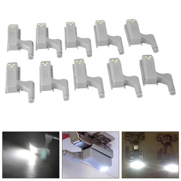 Universal Cabinet Cupboard Hinge LED Light LED Sensor Under Cabinet Lights For Modern Kitchen Bedroom Lamp Night Light Battery Operated