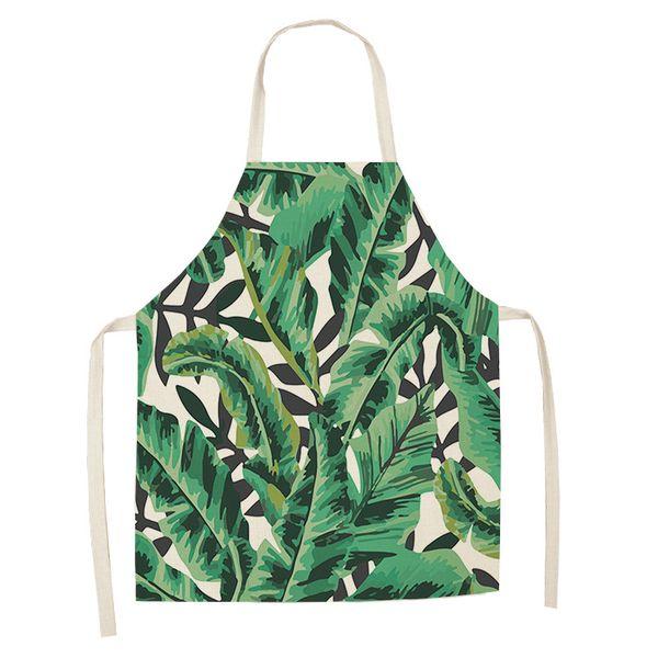 Pamuk Keten Kaktüs Tropikal Monstera Desen Önlük Yetişkin Çocuk Önlükler Ev Pişirme Pişirme Temizleme Mutfak Aksesuarları