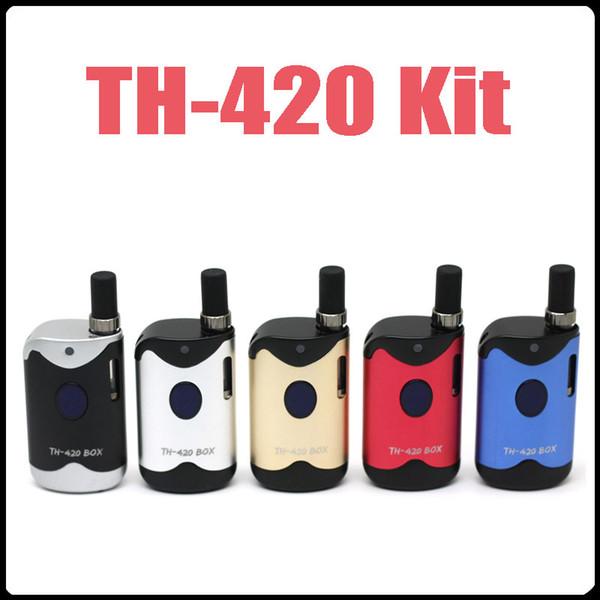 New Vape Box TH-420 Box Kits A3 Cartridges G2 Atomizer Cartridges Vape Pen Starter Kits 650mAh Variable Voltage Battery