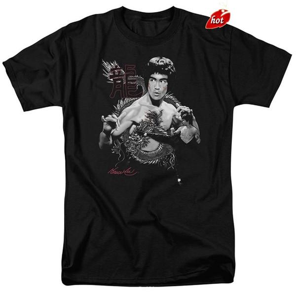 Verano 2018 Famous Brand Bruce Lees Entra en el Dragon Kung Fu Movie T Shirt Camisas para hombres Ropa de hombres Novedad Cool