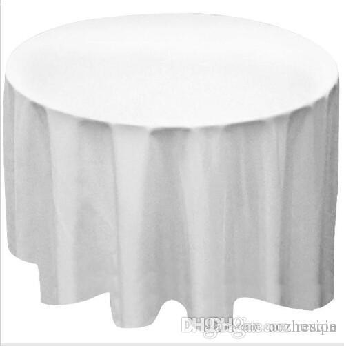 Wholesale New 9pcs/lot Round Polyester Tablecloth Table Cover Cloth White black Yellow for wedding party
