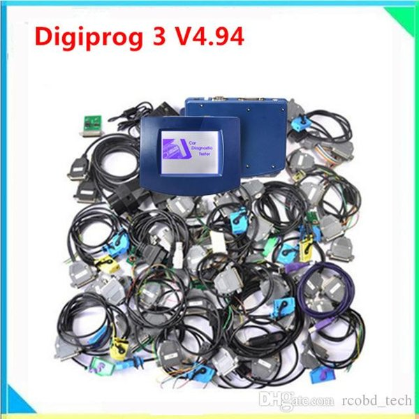 Newest version Digiprog3 Main unit with brand quality Digiprog 3 lowest price digiprog3 odometer correction for cars all cables full kit