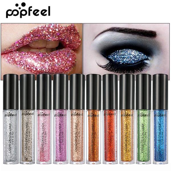 Metal Liquid Eyeshadow Shimmer Glitter Eyeshadow Luminous Lipstick Shine Eye Shadow Stick Lip Face Tint Cosmetic Festival Party