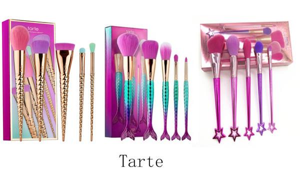 5 pcs um conjunto de maquiagem da marca conjuntos de pincéis cosméticos escova Espiral haste de make-up escova unicórnio parafuso ferramentas de maquiagem 3 estilos