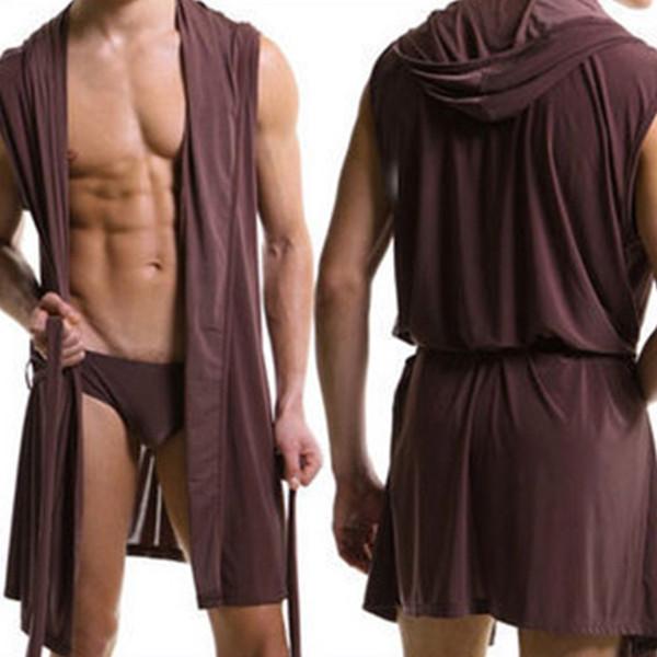 Comfortable Delicate Robes Bathrobe Plus Size Robe Mens Sexy Sleepwear Male Silk Gay Home Wear Hoodie Sleep Lounge Pajama K92