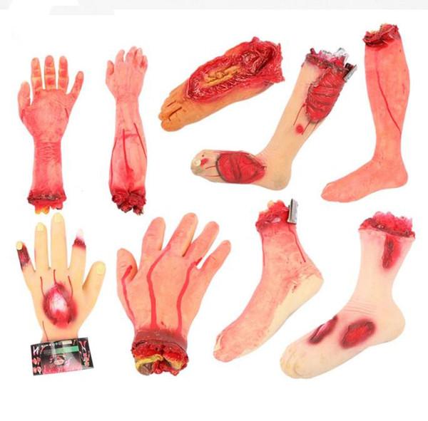 Halloween horror props broken hands horrified broken head tidy venue layout props blood hand blood wholesale