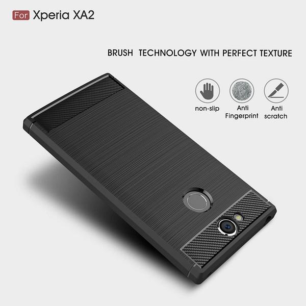 10PCS CellPhone Cases For Sony Xperia XA2 TPU Carbon Fiber heavy duty case for Sony XA2 Ultra cover Free shipping