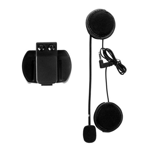 V4/V6 Headset with Mic Helmet Intercom Clip for Motorcycle Bluetooth Device