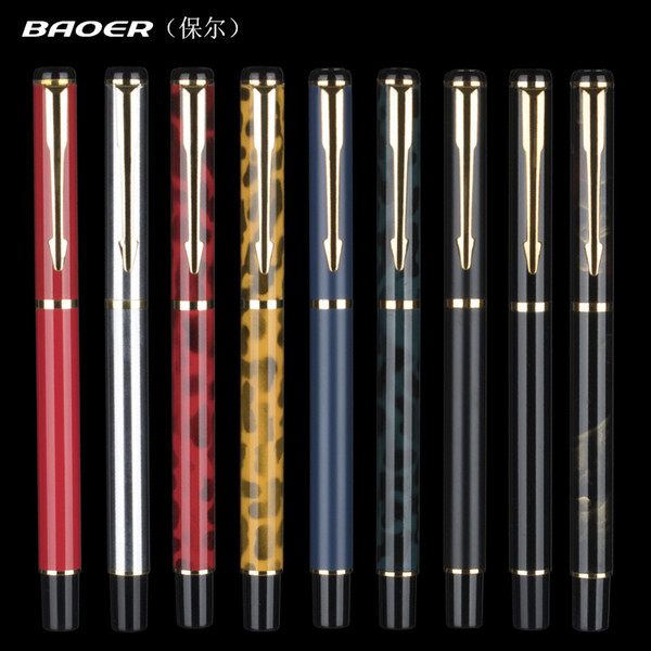 1 PC High Quality Baoer Iraurita Fountain Pen Full Metal Luxury Pens Caneta Office School Stationery Supplies