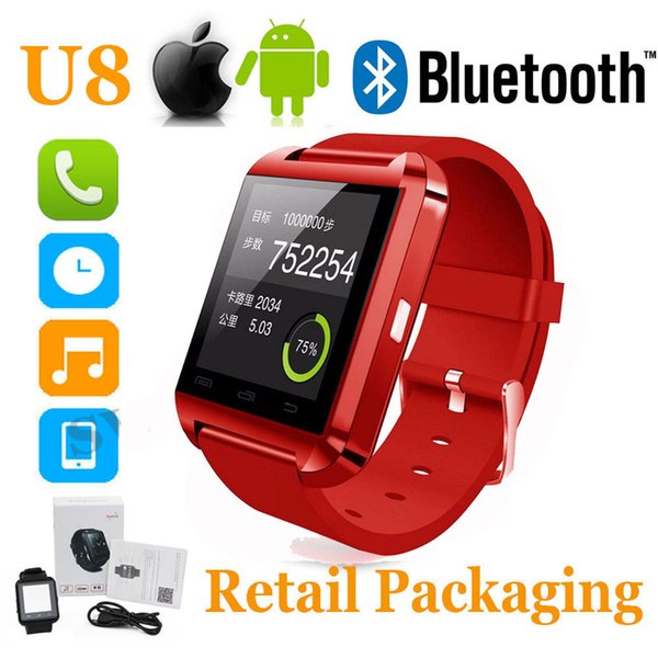 U8 Bluetooth Smart Watch WristWatch Phone sport watch Touch Screen men for Android OS and IOS Smartphone Samsung Smartphone dz09 Y1 Q18 GV18