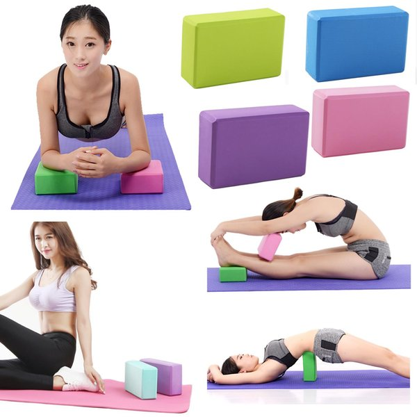 Wholesale- EVA Yoga Blocks Bricks Foaming Foam Home Exercise Fitness Health Gym Practice Tool 23*15*7.5 cm