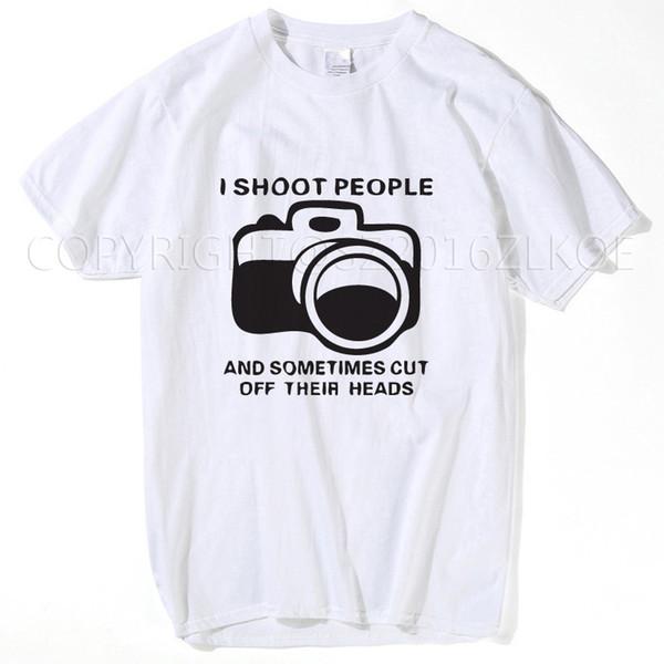 Eu Atiro Em Pessoas Camisetas Engraçadas Fotógrafo Câmera Fotografia Camisetas 2017 Moda Camisetas Casuais Design Personalizado Tees