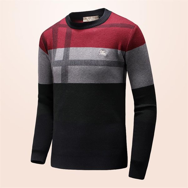 a3d094d6012 New Designer Sweater Pullover Men Brand Tops With Long Sleeve Crew Neck  Cashmere Blend Embroidery Thin Wool Head Winter Mens Clothing G19