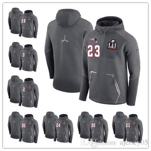 O hoodie da camisola do campeão do Hoodie dos homens de 01 patriotas meio zíper