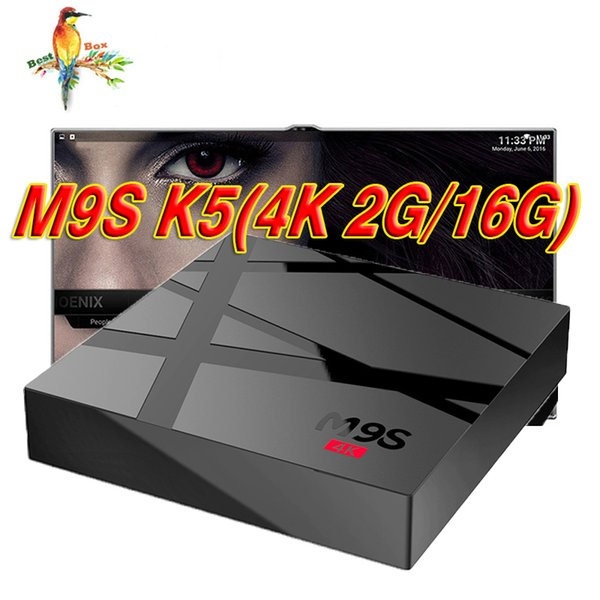 Cheapest Quad Core M9S 4K Android 6.0 TV BOX 2GB 16GB Bluetooth Android 6.0 Media Player BETTER TX3 MINI T95Z PLUS