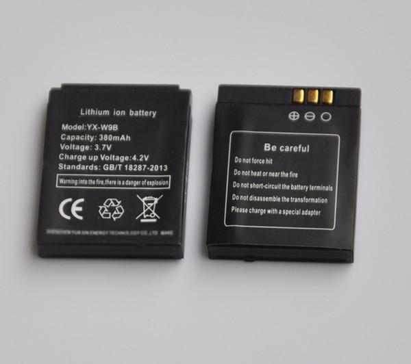 1-5 PCS 380 mAh Recarregável Li-ion Polímero De Lítio Bateria de Backup de Substituição Para gt08 DZ09 A1 W8 V8 X6 relógio inteligente