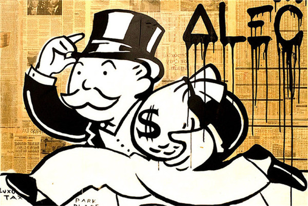Alec Monopoly,1PC SHome Decor HD Printed Modern Art Painting on Canvas (Unframed/Framed) # 10